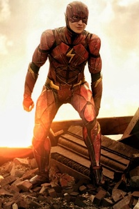 1080x2280 Flash Justice League New
