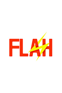 720x1280 Flash Logo White 4k