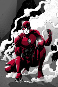 Flash Monochrome Art 4k