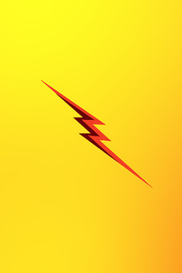 640x1136 Flash Reverse Logo Minimal 4k