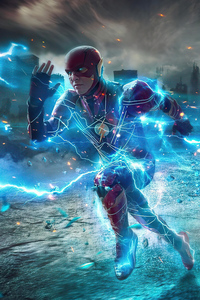 Flash Running Lightning 4k