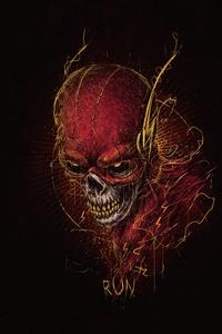 320x480 Flash Skull 5k