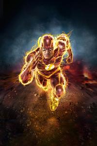 720x1280 Flash The Running Fire 4k