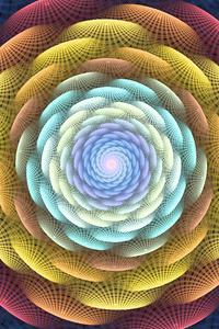 1242x2688 Flower Fractal Art 4k