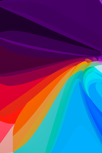240x400 Flower Leaf Colorful Abstract 8k