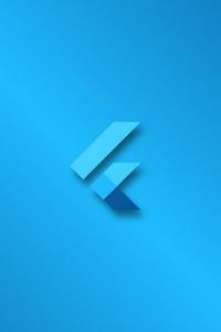 480x800 Flutter Logo 4k