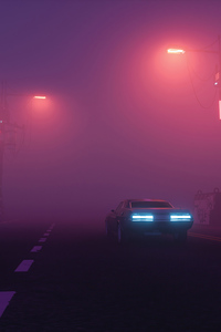 240x400 Foggy Road Car 4k