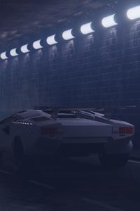 Foggy Tunnel Lamborghini 4k