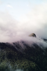 Fogy Clouds Over Mountains 4k 5k