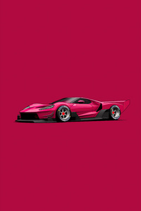Ford GT C Vgt Minimal Red 4k