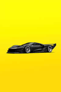Ford GT C Vgt Minimal Yellow 4k