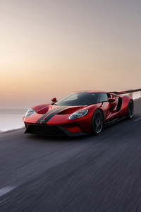 360x640 Ford Gt Red 4k
