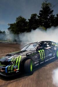 240x400 Ford Monster Drifting Smoke
