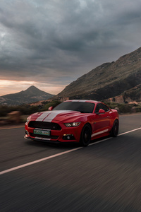 2160x3840 Ford Mustang 50 Gt Race Red