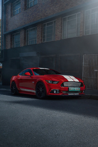 2160x3840 Ford Mustang 50 Gt Race Red 4k