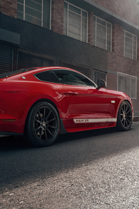 2160x3840 Ford Mustang 50 Gt Race Red 5k