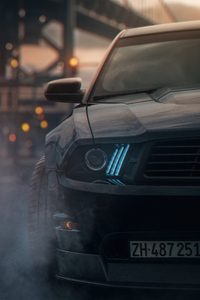 240x320 Ford Mustang Angel Lights