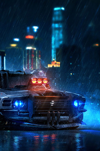 1440x2960 Ford Mustang Cyberpunk