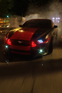 2160x3840 Ford Mustang Drifting On Road 5k