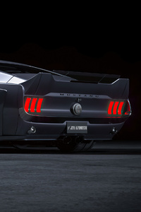 640x1136 Ford Mustang Fastback 1967 Widebody 4k