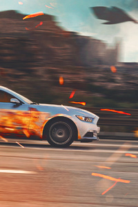 2160x3840 Ford Mustang Fire