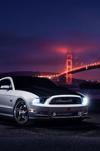 640x960 Ford Mustang Golden Gate Bridge