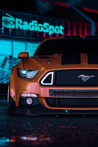 480x800 Ford Mustang RTR Need For Speed 4k