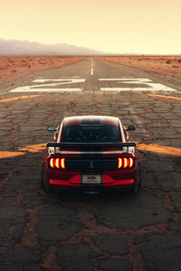 Ford Mustang Shelby Gt500 Drag 4k