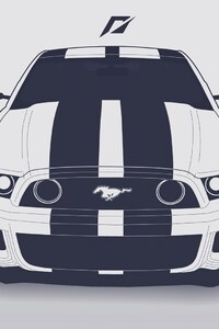 1080x1920 Ford Mustang Vector