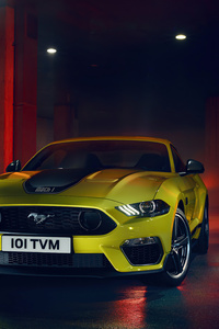 240x320 Ford Mustang Yellow 5k