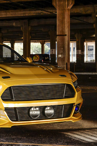 360x640 Ford Mustang Yellow