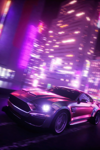 2160x3840 Ford Shellby Synthwave 5k
