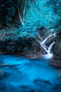 480x800 Forest Dreamy Waterfall 4k