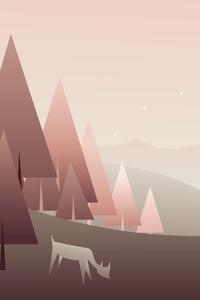 Forest Minimal Art 4k