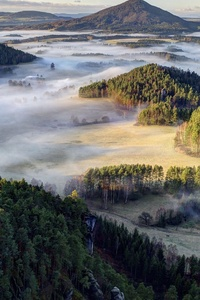 Forests Czech Republic Parks Bohemian Switzerland