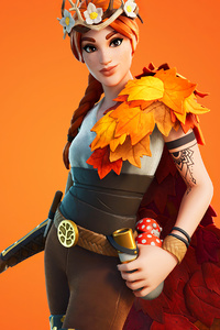 640x1136 Fornite Autumn Queen Outfit 4k