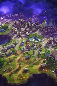 Fornite City Map Top View 8k