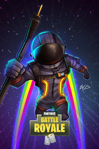 640x960 Fortnite Dark Voyager Fan Art