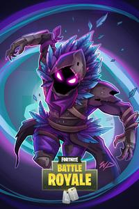 1242x2688 Fortnite Raven Fan Art
