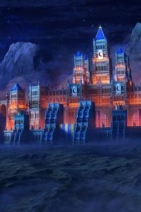 480x854 Fortress In Eternal Darkness Castle 4k
