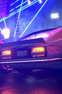 Forza Horizon Ford Mustang Colorful Lights 4k