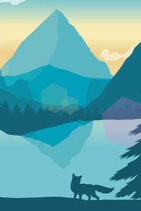 Fox Forest Minimal Landscape 4k