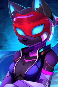 1440x2960 Foxy Cat 5k