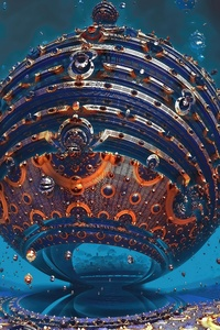 Fractal Sphere 3D 4K