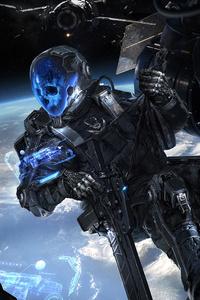 1080x2280 Frontier Buccaneers Scifi Skull Soldiers