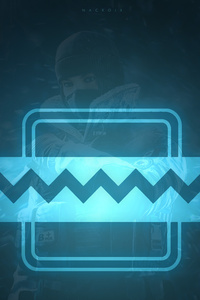 640x1136 Frost Tom Clancys Rainbow Six Siege Minimalism 12k
