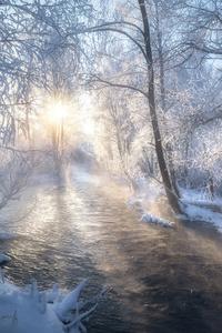 480x800 Frost Winter Road 5k
