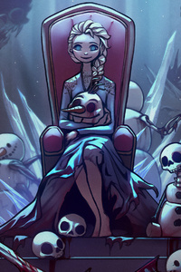 1242x2688 Frozen Elsa Olaf Anna 4k