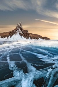 480x800 Frozen Lake 8k