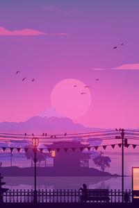 720x1280 Fuji Sunset